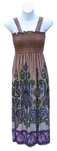 Brown Floral Maxi Dress by Other Brand New W/o Tag Summer