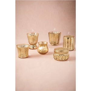 BHLDN Gold 55 Mercury Glass Votive/Candle