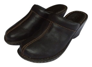 Børn Born Leather Wedge Sole Mule Brown Mules