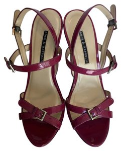 Rock & Republic Heels Patten Leather Heels Wedges FUCHSIA Platforms