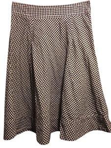 H&M Skirt Black and White Checkers