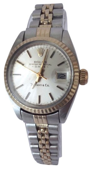 Preload https://item4.tradesy.com/images/rolex-silver-and-gold-limited-edition-tiffany-and-co-women-s-oyster-perpetual-datejust-watch-5937508-0-2.jpg?width=440&height=440
