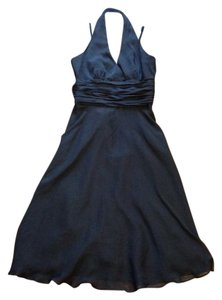 Maggy London Bridesmaid Formal Halter Chiffon Dress