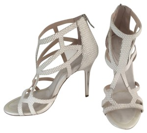 BCBGeneration Sandal Bcbg Silver Highheel White Formal