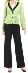 Le Suit LE SUIT NEW Tuileries Green Long Sleeves Contrast Trim 2PC Pant Suit 14P. Ships in one day.