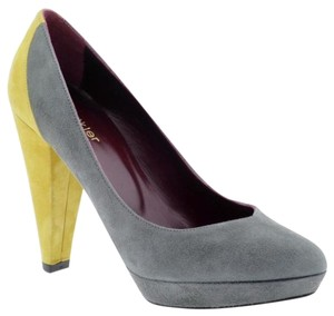 Botkier Color-blocking Pump Statement Gray and yellow Pumps
