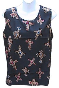 Liva Girl Top Black Cross Floral