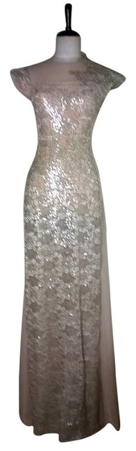 Lisa Nieves Full Length Prom Prom Sequin Night Out Wedding Bridal Glitter Shiny Party Couture Couture Evening Dress