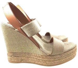 Tory Burch Comfortable Light Tan Wedges