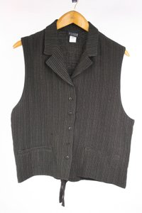 Eileen Fisher Pinstripe Wool Blend Vest