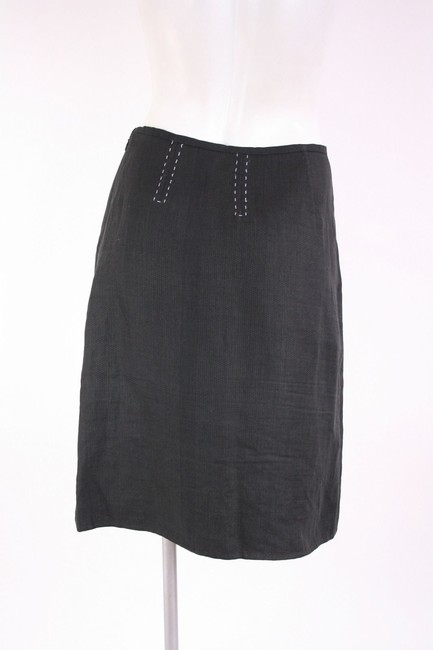 Other Herno Linen Pencil Skirt black