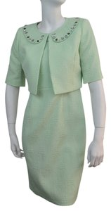 Nipon Boutique NIPON BOUTIQUE NEW Green Shimmer Sleeveless Dress With Jacket 8. Ships in one day.