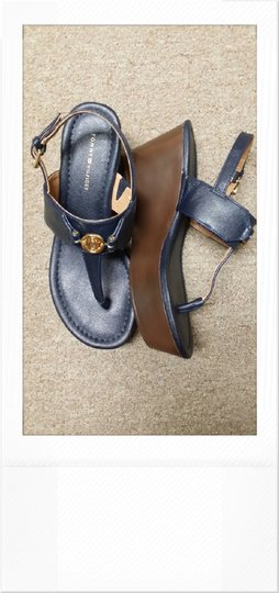 Tommy Navy Wedges