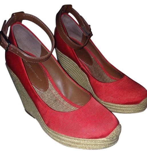 BCBGeneration Max Red Wedges