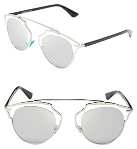 6c5d2708a2 Dior Dior  So Real  48mm Silver Mirrored Sunglasses Palladium  Crystal Silver Mirror