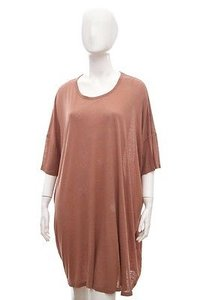 Stella McCartney short dress Pink Oversize Silk Slub Tunic Blouse Top 36xss on Tradesy