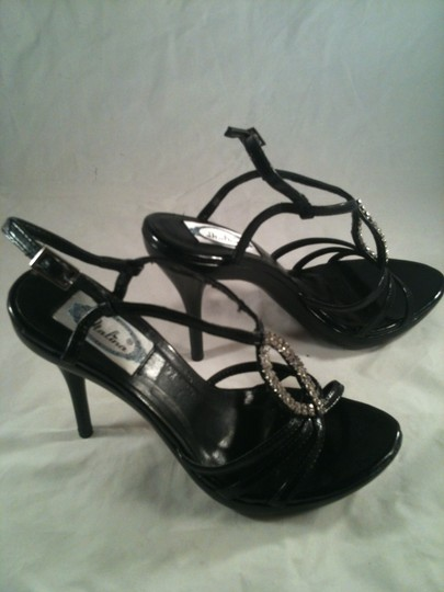 Italina Strappy Open Toe Black Sandals