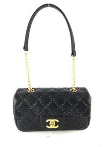 Chanel Studded Leather Shoulder Bag