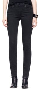 Tory Burch Classic Tory Denim Casual Everyday Logo Relaxed Fit Jeans-Dark Rinse