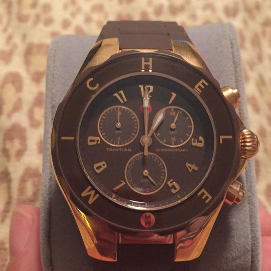 Michele Michele Watch Chocolate With Rose Gold Hardware