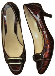 Cole Haan Leopard Heels Casual Chic Brown Pumps