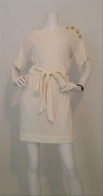 3.1 Phillip Lim short dress White Cotton Tunic With Gold Inserts K on Tradesy