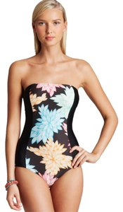 Ella Moss Ella Moss Bella Floral One Piece Swimsuit in Black Multi Color Size XS