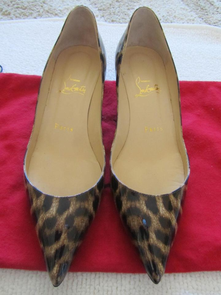 2119afa5dd77 Christian Louboutin Rocket 45mm Leopard Patent   37.5 Pumps Size US ...