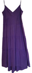 Purple Maxi Dress by BCBGMAXAZRIA Silk