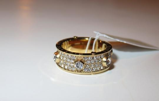 Michael Kors Nwt Michael Kors Astor Gold Tone and Pave Clear Stones Ring Size 6
