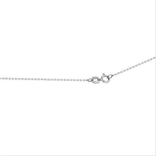 Other 10k White Gold 0.25 Cttw Princess Diamonds Necklace With Cube Pendant