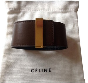 Céline 100% Authentic Leather Cuff Bracelet