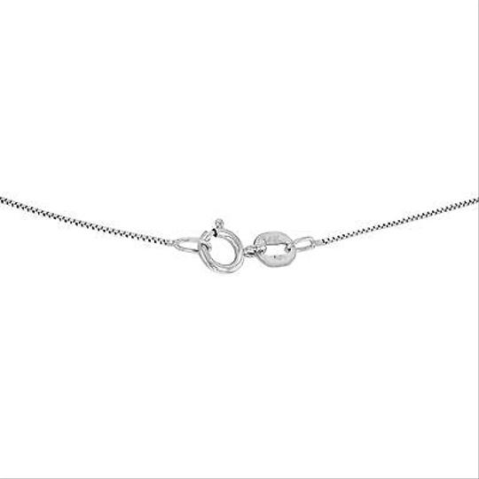 Other 14k White Gold 0.25 Cttw Diamonds Three Stones Pendant Womens Necklace