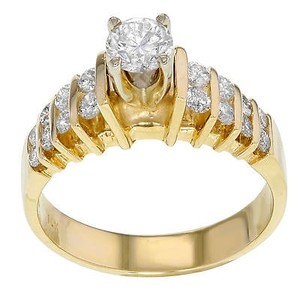 14k Yellow Gold 0.97 Cttw Diamonds Engagement Womens Ring