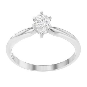 Other 14k White Gold 0.40 Cttw Pear Shaped Diamond Engagement Womens Ring