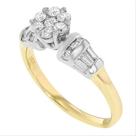 Other 14k Yellow White Gold 0.75 Cttw Diamonds Engagement Womens Ring
