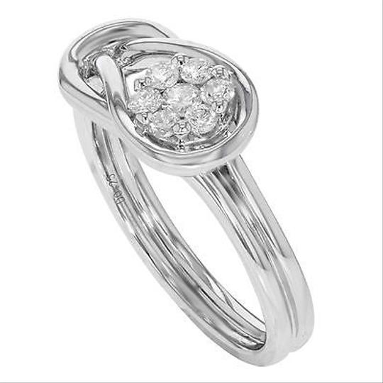 Other 14k White Gold 0.25 Cttw Diamonds Stones Flower Loop Womens Ring