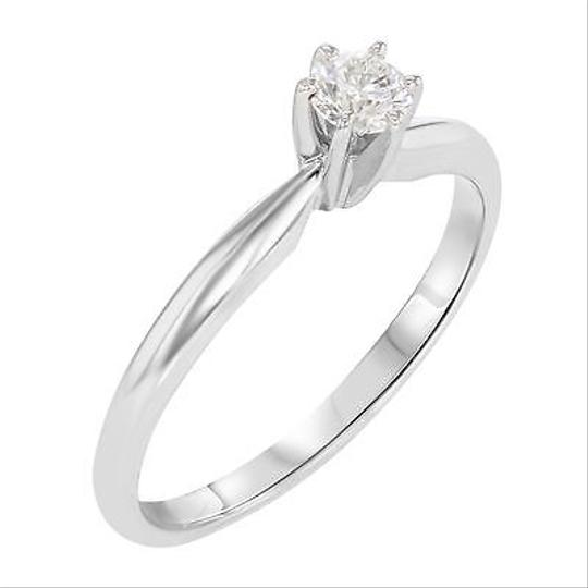 Other 14k White Gold 0.25 Cttw Round Cut Diamond Engagement Womens Ring