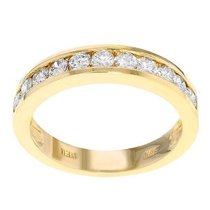 14k Yellow Gold 0.75 Cttw Diamonds Womens Band Wedding Ring