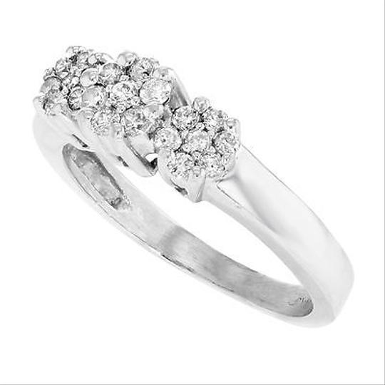 Other 14k White Gold 0.25 Cttw Diamonds Cluster Womens Ring