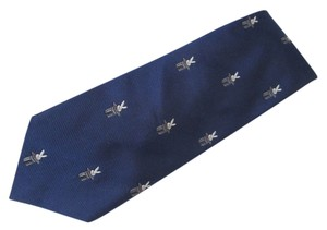 Dior CHRISTIAN DIOR MAGICIAN RABBIT IN TOP HAT WOVEN SILK NAVY BLUE BACKGROUND
