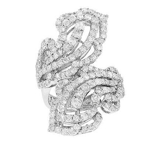 Other 18k White Gold 3.60 Cttw Diamonds Vintage Inspired Pave Womens Ring