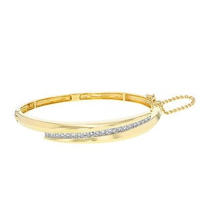 Other 14k Yellow Gold 1 Cttw Diamonds Womens Bangle Bracelet