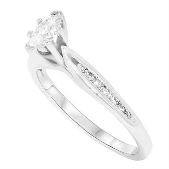Other 14k White Gold 0.25 Cttw Marquise Round Cut Diamond Womens Engagement Ring