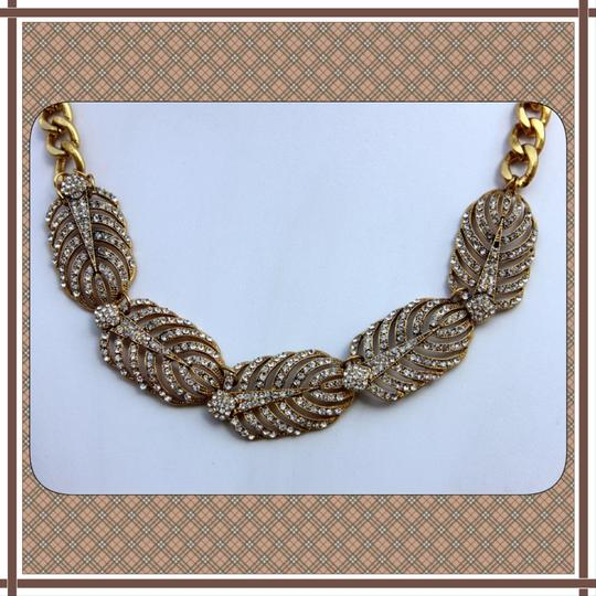 Other NEW Antique Gold & Austrian Crystal Leaf Statement Necklace
