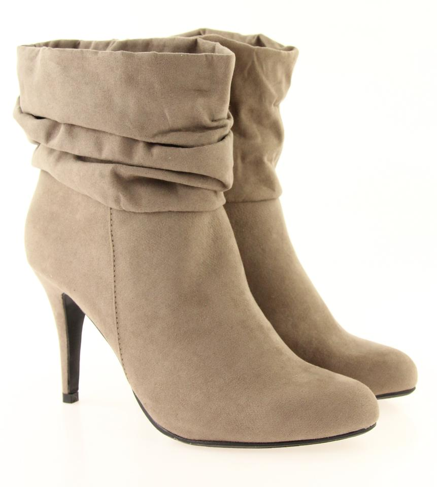 32aaa0ee8655 Steve Madden Grey Slouchy Suede Ankle Boots Booties Size US 9 ...