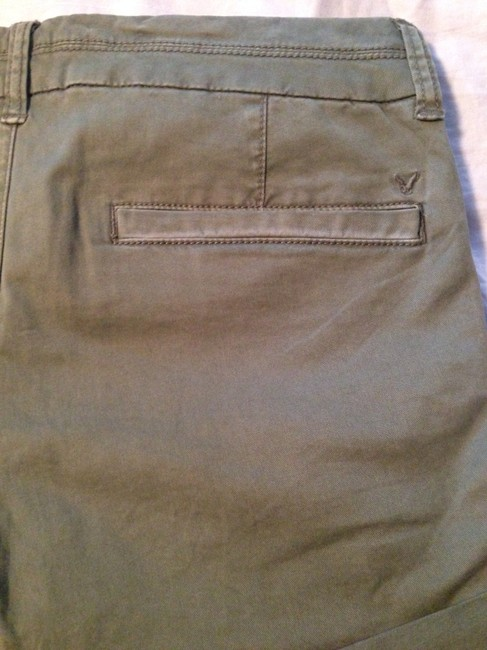 American Eagle Outfitters Stretch Midi Mini/Short Shorts Olive Green