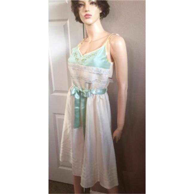 Cream Maxi Dress by Spenser Jeremy Lace Silk Embroidered Spring Summer
