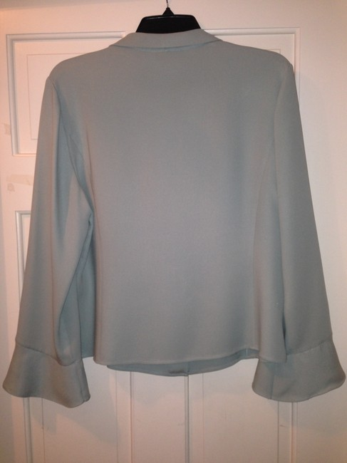Talbots Silk Button-down Top Gray-Green