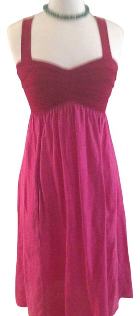 Preload https://item4.tradesy.com/images/love-yaya-hot-pink-mid-length-night-out-dress-size-8-m-5944063-0-0.jpg?width=400&height=650
